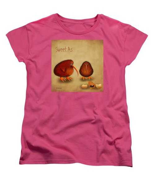 New Arrival. Kiwi Bird - Sweet As - Boy Women's T-Shirt (Standard Cut) by Marlene Watson