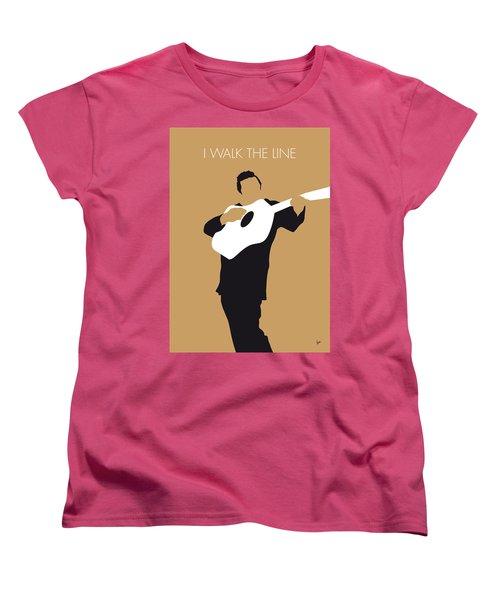 No010 My Johnny Cash Minimal Music Poster Women's T-Shirt (Standard Cut) by Chungkong Art