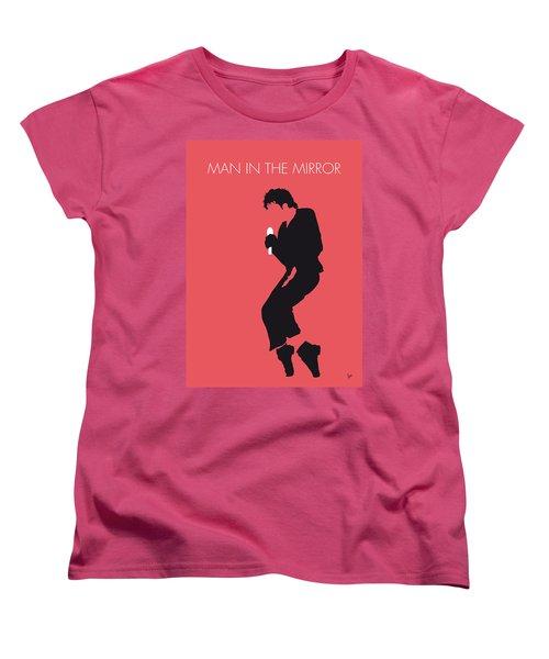 No032 My Michael Jackson Minimal Music Poster Women's T-Shirt (Standard Cut) by Chungkong Art
