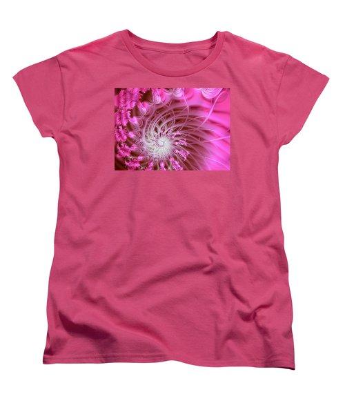 Pink Women's T-Shirt (Standard Cut) by Lena Auxier