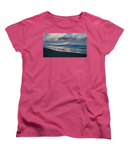 Sandpipers In Paradise Women's T-Shirt (Standard Cut) by Betsy Knapp