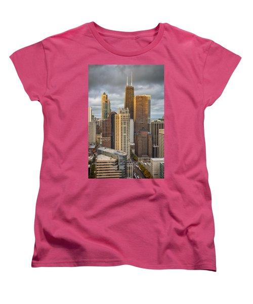 Streeterville From Above Women's T-Shirt (Standard Cut) by Adam Romanowicz