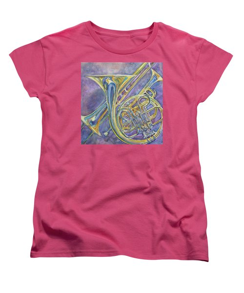 Three Horns Women's T-Shirt (Standard Cut) by Jenny Armitage