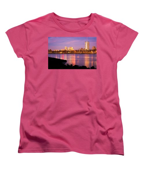 Tulsa Oklahoma - University Tower View Women's T-Shirt (Standard Cut) by Gregory Ballos