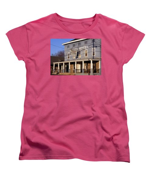 Union Hotel Women's T-Shirt (Standard Cut) by Skip Willits