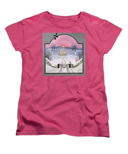 Winter Women's T-Shirt (Standard Cut) by Maggie Rowe