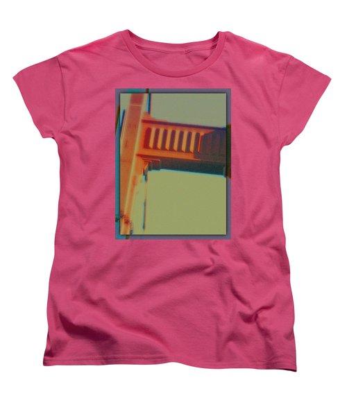 Women's T-Shirt (Standard Cut) featuring the digital art Coming In by Richard Laeton