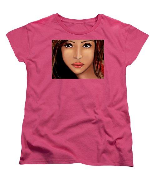 Jessica Alba Version 2 Women's T-Shirt (Standard Cut) by Mathieu Lalonde