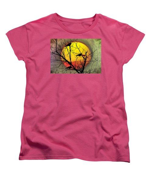 Three Blackbirds Women's T-Shirt (Standard Cut) by Bill Cannon