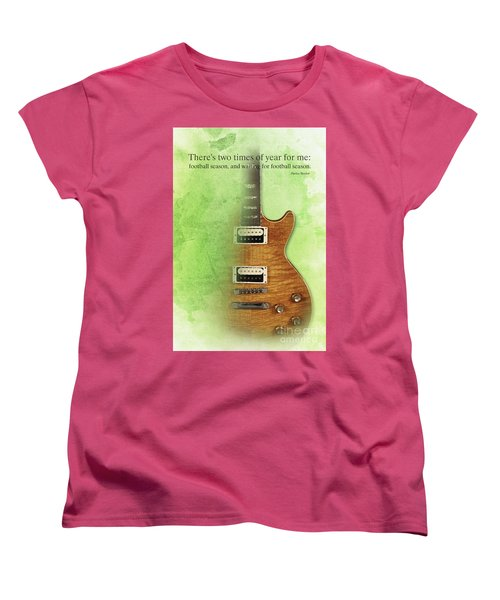 Darius Rucker Inspirational Quote, Electric Guitar Poster For Music Lovers And Musicians Women's T-Shirt (Standard Cut) by Pablo Franchi