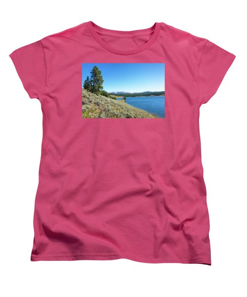 Meadowlark Lake View Women's T-Shirt (Standard Cut) by Jess Kraft