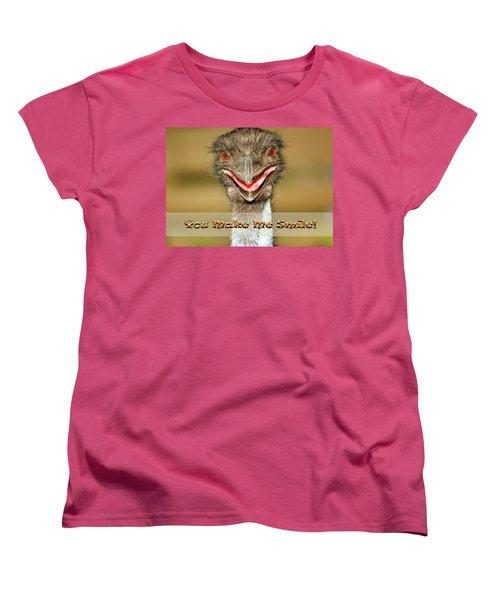 You Make Me Smile Women's T-Shirt (Standard Cut) by Carolyn Marshall