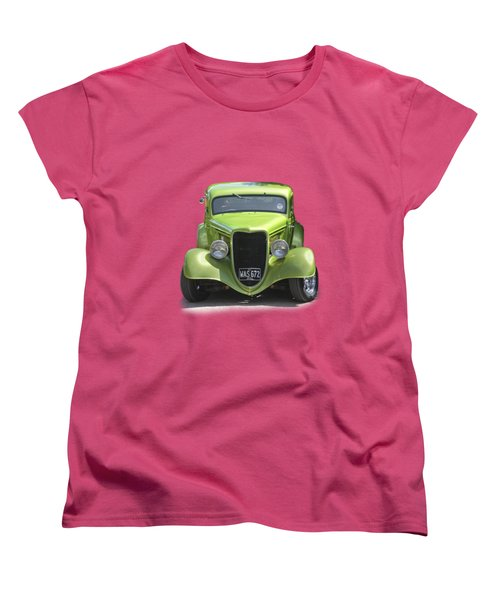 1934 Ford Street Hot Rod On A Transparent Background Women's T-Shirt (Standard Cut) by Terri Waters