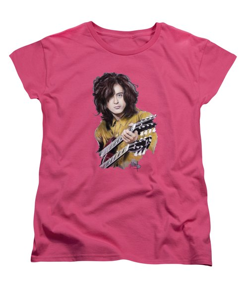 Jimmy Page Women's T-Shirt (Standard Cut) by Melanie D