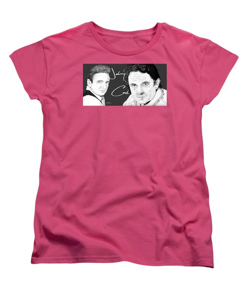 Johnny Cash Women's T-Shirt (Standard Cut) by Bill Richards