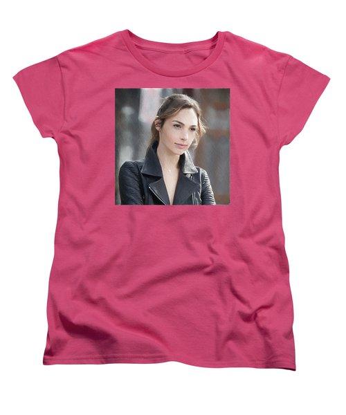 Gal Gadot Art Women's T-Shirt (Standard Cut) by Best Actors