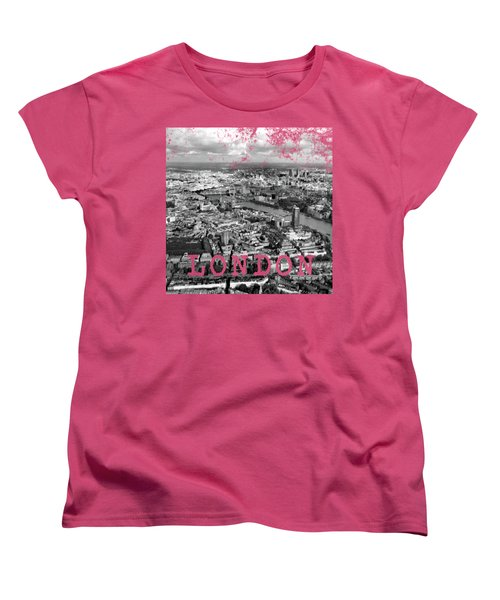 Aerial View Of London Women's T-Shirt (Standard Cut) by Mark Rogan