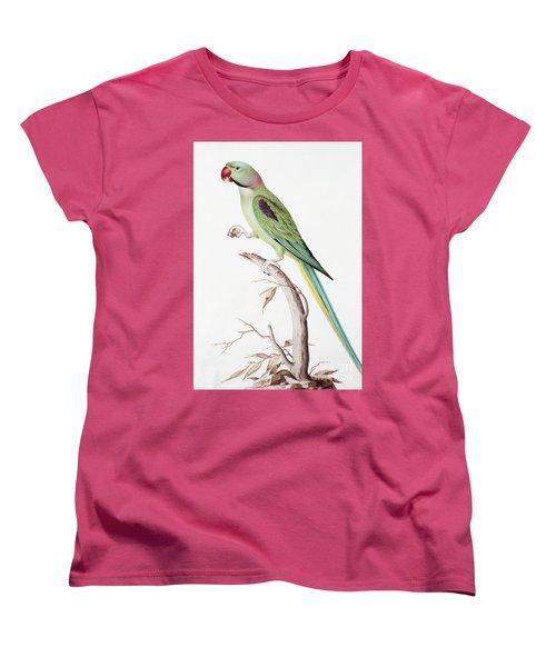 Alexandrine Parakeet Women's T-Shirt (Standard Cut) by Nicolas Robert