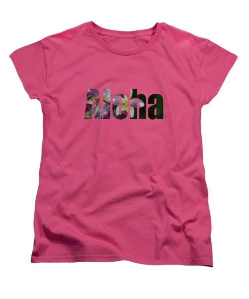 Aloha Orchids Type Women's T-Shirt (Standard Cut) by Kerri Ligatich