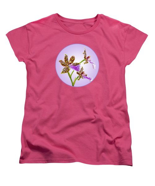Bold And Beautiful - Zygopetalum Orchid Women's T-Shirt (Standard Cut) by Gill Billington