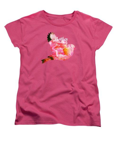 Roses - Verse Women's T-Shirt (Standard Cut) by Anita Faye