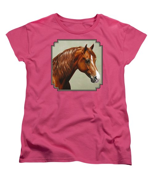 Morgan Horse - Flame Women's T-Shirt (Standard Cut) by Crista Forest
