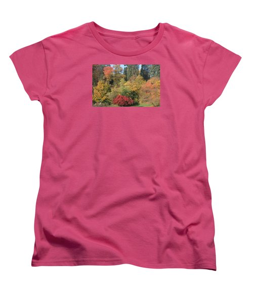 Women's T-Shirt (Standard Cut) featuring the photograph Autumn In Baden Baden by Travel Pics