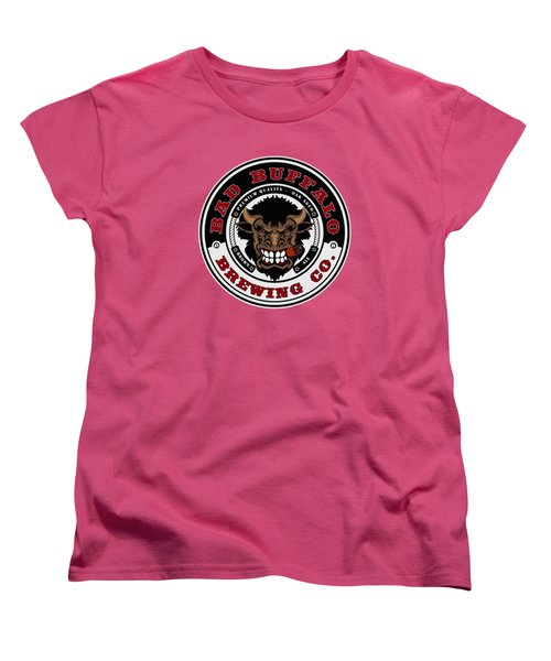 Bad Buffalo Brewing Women's T-Shirt (Standard Cut) by Christopher Williams