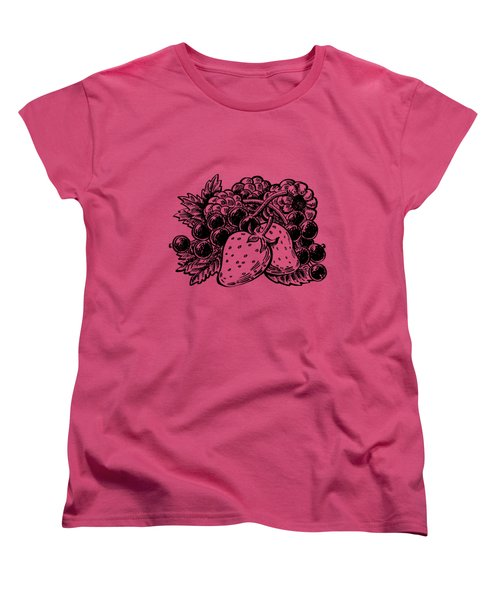 Berries From Forest Women's T-Shirt (Standard Cut) by Irina Sztukowski