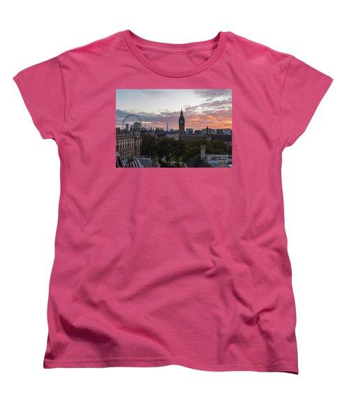 Big Ben London Sunrise Women's T-Shirt (Standard Cut) by Mike Reid