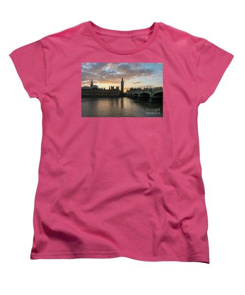 Big Ben London Sunset Women's T-Shirt (Standard Cut) by Mike Reid