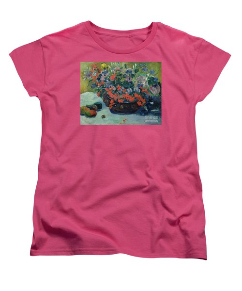 Bouquet Of Flowers Women's T-Shirt (Standard Cut) by Paul Gauguin