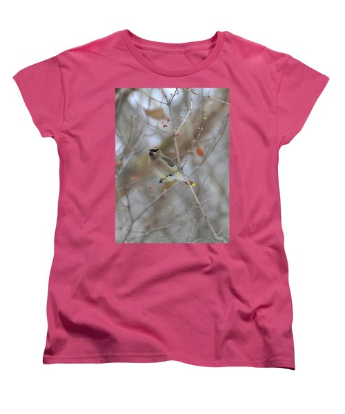 Cedar Wax Wing 2 Women's T-Shirt (Standard Cut) by David Arment