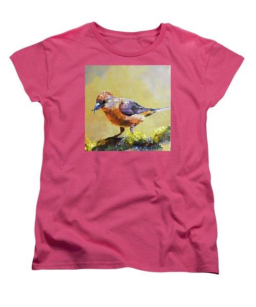 Crossbill Women's T-Shirt (Standard Cut) by Jan Hardenburger