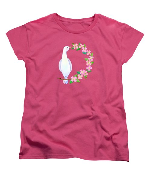 D Is For Dove And Dogwood Women's T-Shirt (Standard Cut) by Valerie Drake Lesiak