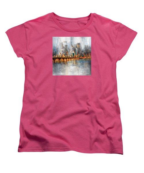 Dallas Skyline 217 1 Women's T-Shirt (Standard Cut) by Mawra Tahreem