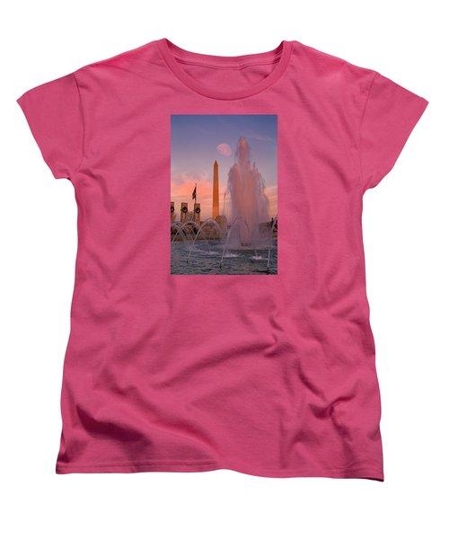 Dc Sunset Women's T-Shirt (Standard Cut) by Betsy Knapp