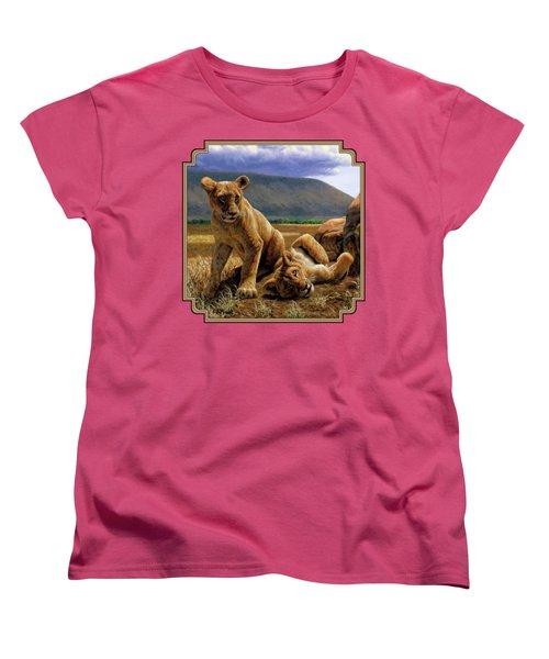 Double Trouble Women's T-Shirt (Standard Cut) by Crista Forest