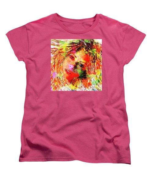 Flowery Shakira Women's T-Shirt (Standard Cut) by Navo Art