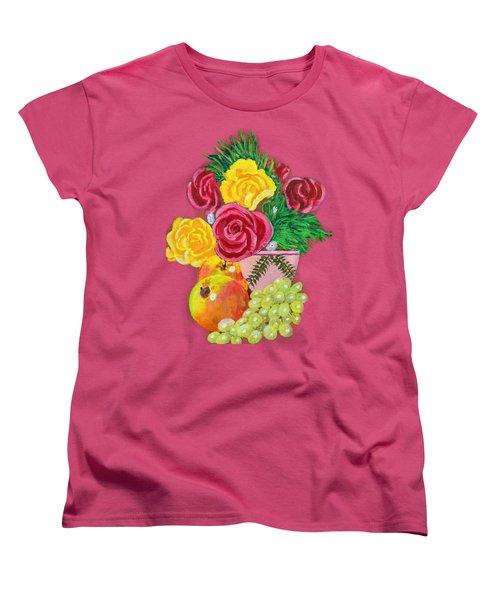 Fruit Petals Women's T-Shirt (Standard Cut) by Joe Leist -digitally mastered by- Erich Grant