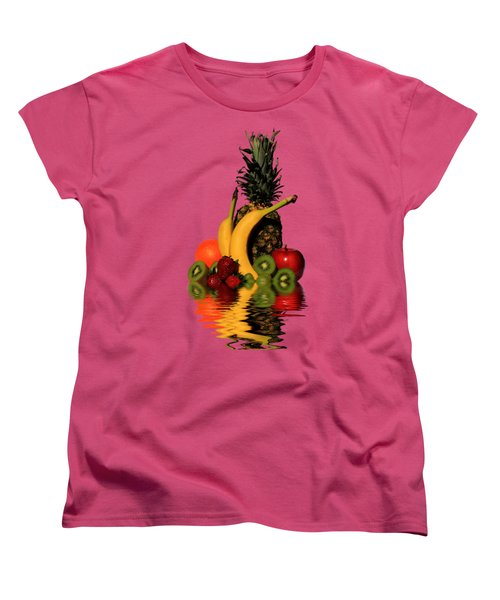 Fruity Reflections - Medium Women's T-Shirt (Standard Cut) by Shane Bechler