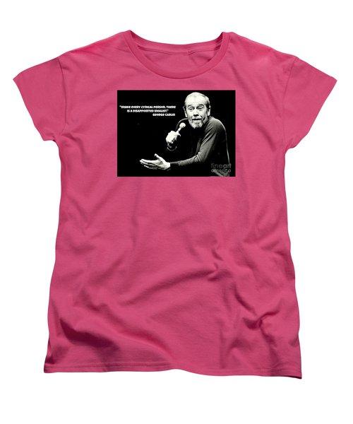 George Carlin Art  Women's T-Shirt (Standard Cut) by Pd