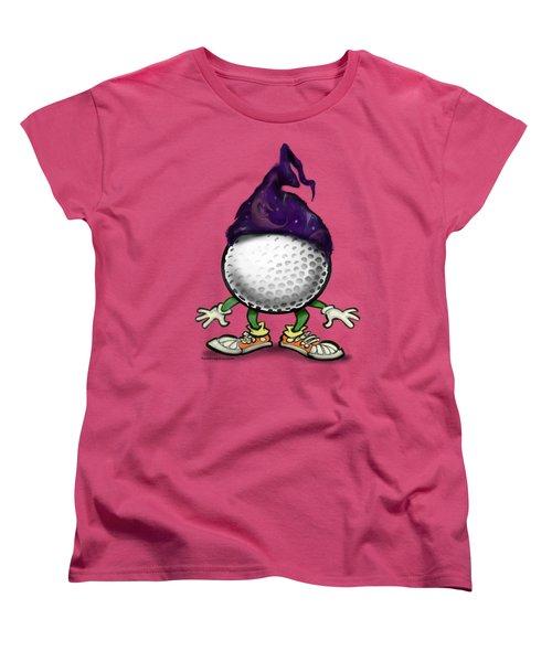 Golf Wizard Women's T-Shirt (Standard Cut) by Kevin Middleton