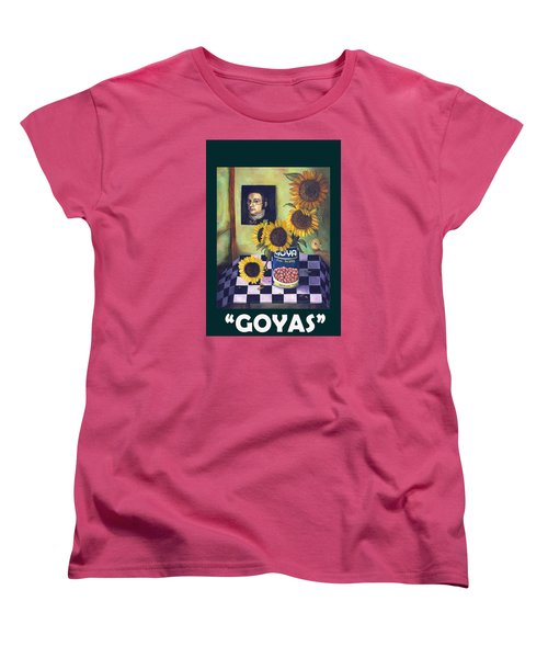 Goyas With Lettering Women's T-Shirt (Standard Cut) by Leah Saulnier The Painting Maniac