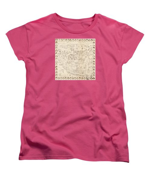 Hollywood Map To The Stars 1937 Women's T-Shirt (Standard Cut) by Don Boggs