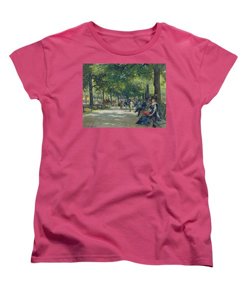 Hyde Park - London  Women's T-Shirt (Standard Cut) by Count Girolamo Pieri Nerli