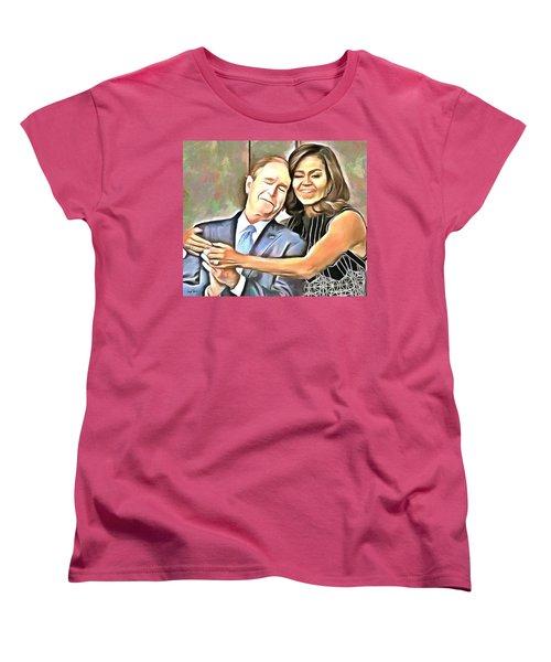 Imagine All The People Women's T-Shirt (Standard Cut) by Wayne Pascall