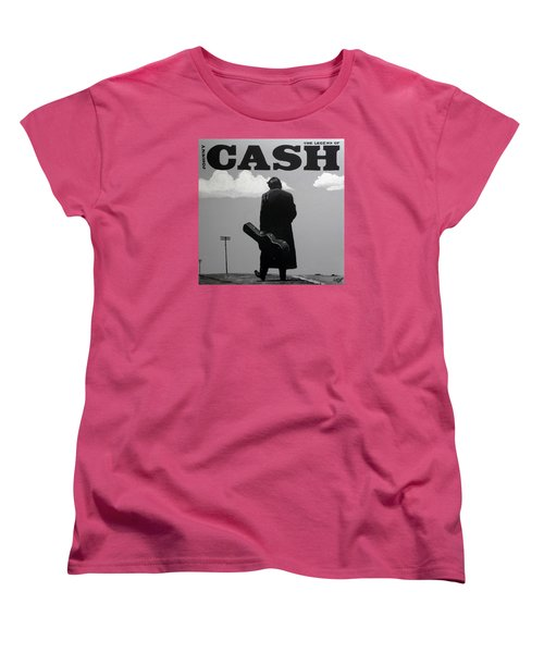 Johnny Cash Women's T-Shirt (Standard Cut) by Tom Carlton