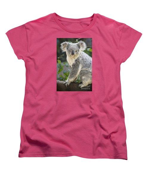 Koala Female Portrait Women's T-Shirt (Standard Cut) by Jamie Pham