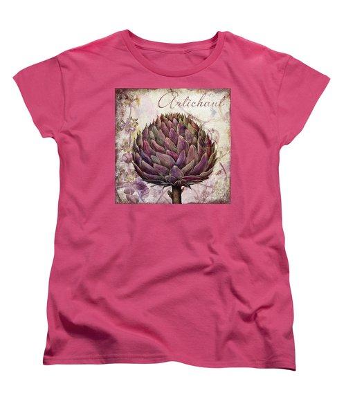 Legumes Francais Artichoke Women's T-Shirt (Standard Cut) by Mindy Sommers